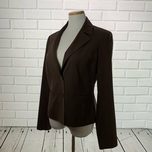 Rafaella Brown Blazer Suit Jacket - Size 10